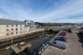 self catered holiday apartment falmouth. Tidemill House Living room and view