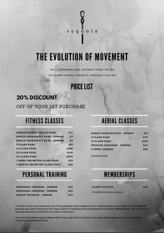 Sequoia Movement Price List