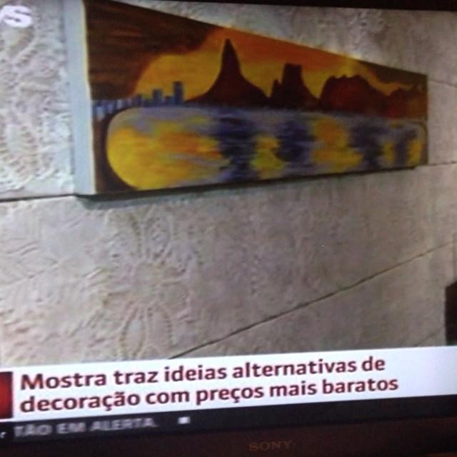 Reportagem da Globo News sobre o _morarmaispormenos mostrando o Estar Carioca #morarmais2015 #decor