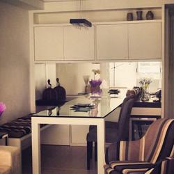sala jantar com movel integrado