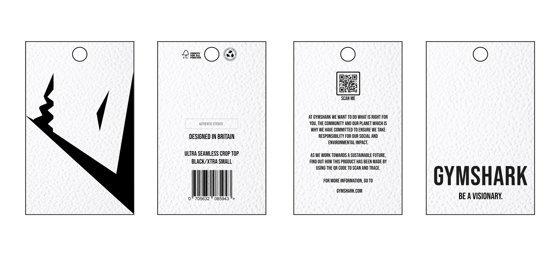 Swing Ticket. Utilising QR code technology to trace and track a products information down to its raw material.