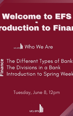 Mentorship Presents: Introduction to Finance