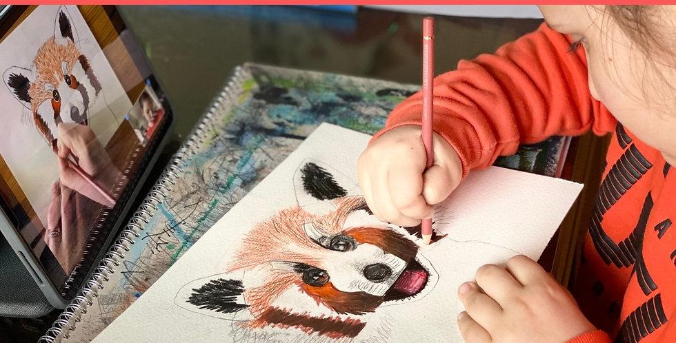 6+ Online Art Workshops | Summer Holiday's | 10:00 - 11:30am