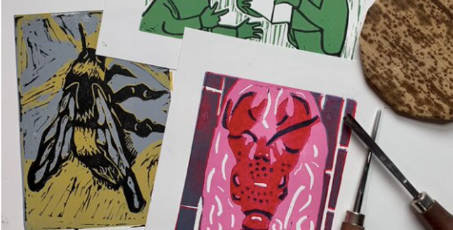 Evening Printmaking Course in Lino and Drypoint | Hosted by Lavender Print