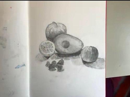 9+ Online Sketchbook Drawing | 12:30 - 2:00pm