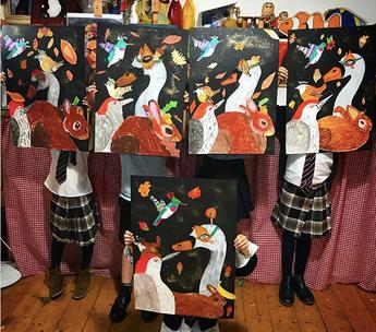 Monday Class - Vicki Sawyer Inspired Artwork