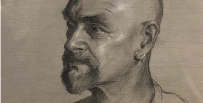 Charcoal Self Portrait with Artist Jack Ford   Video