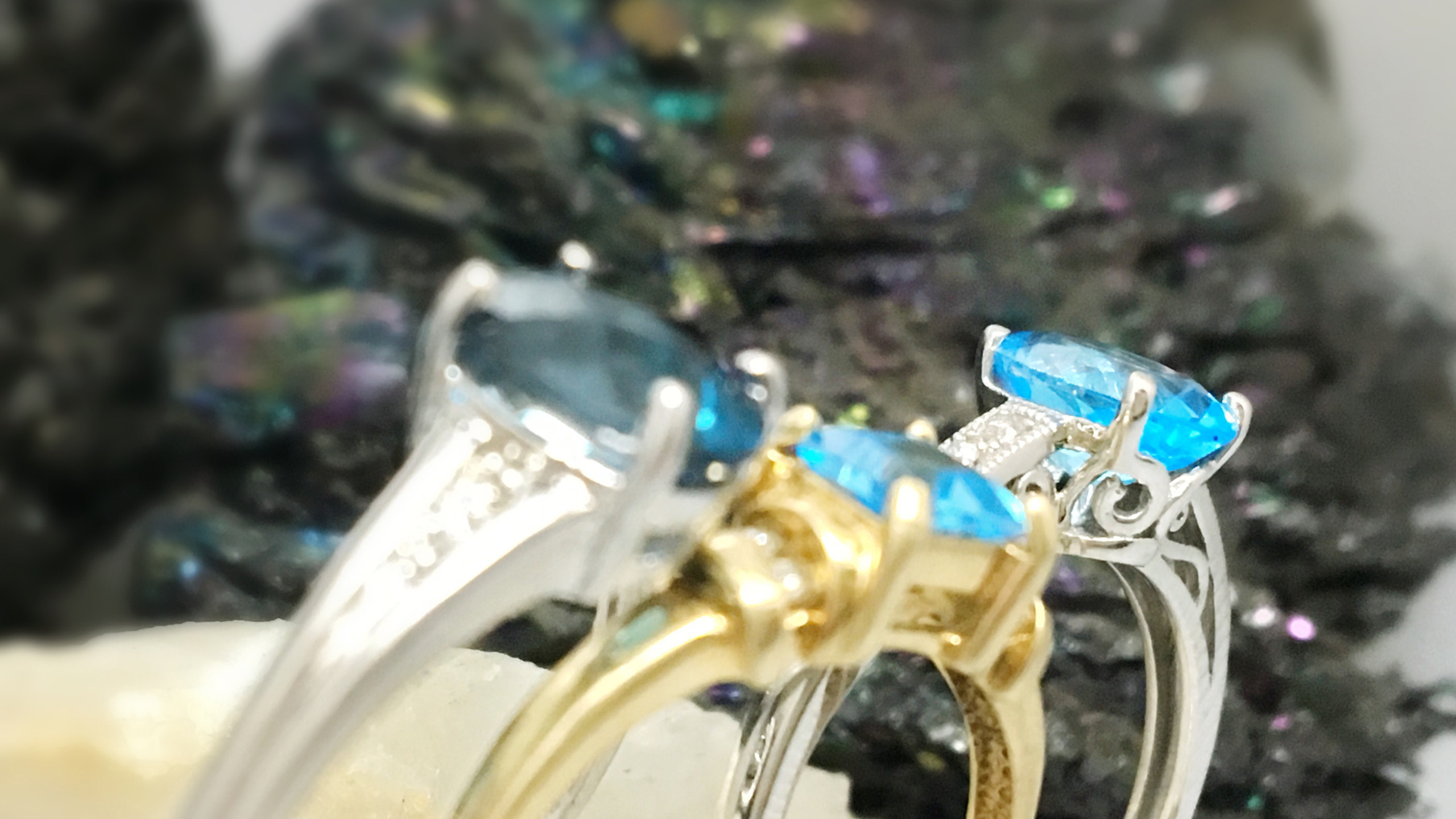 Topaz occasion rings