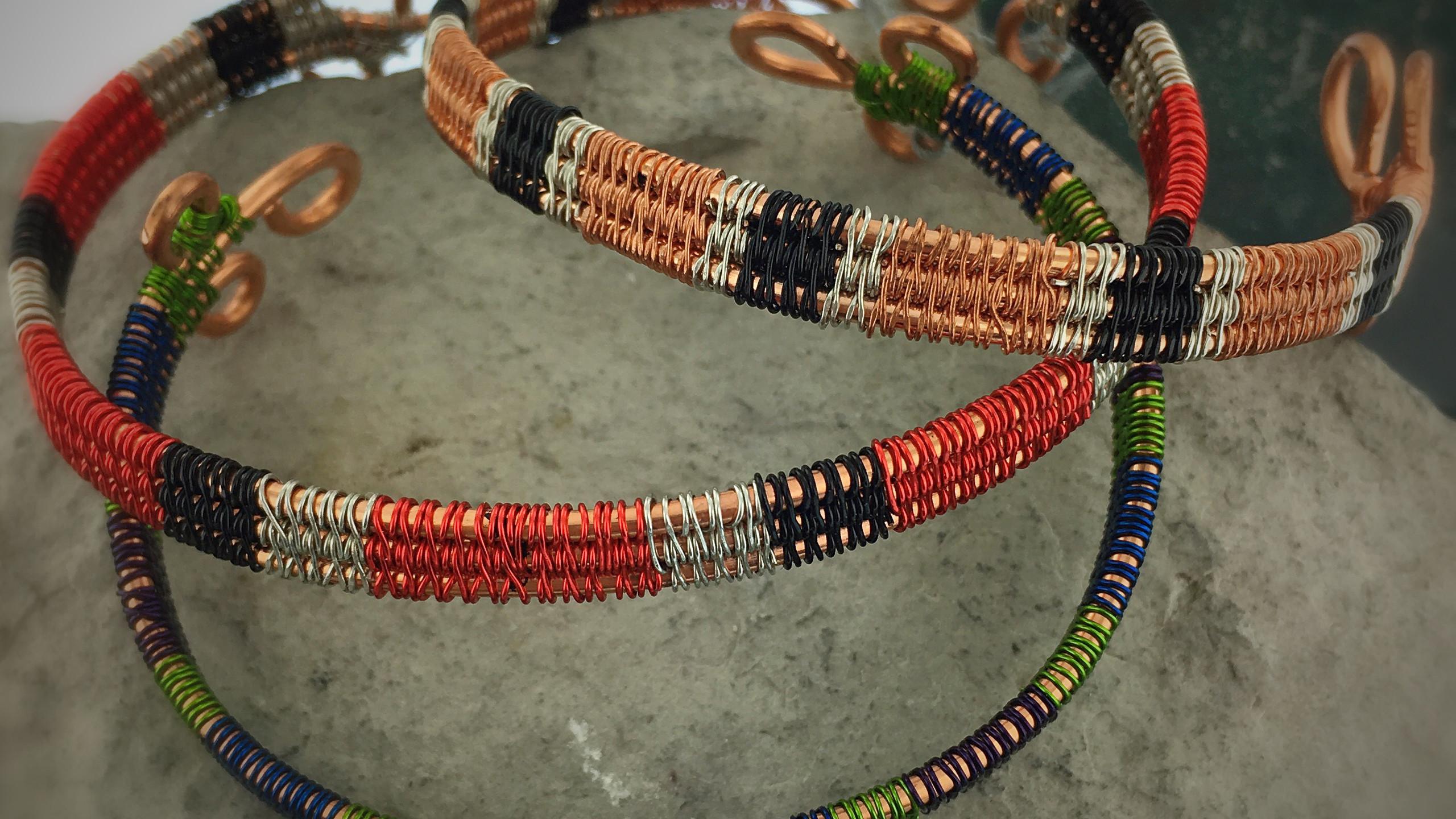wire wrapped bracelets