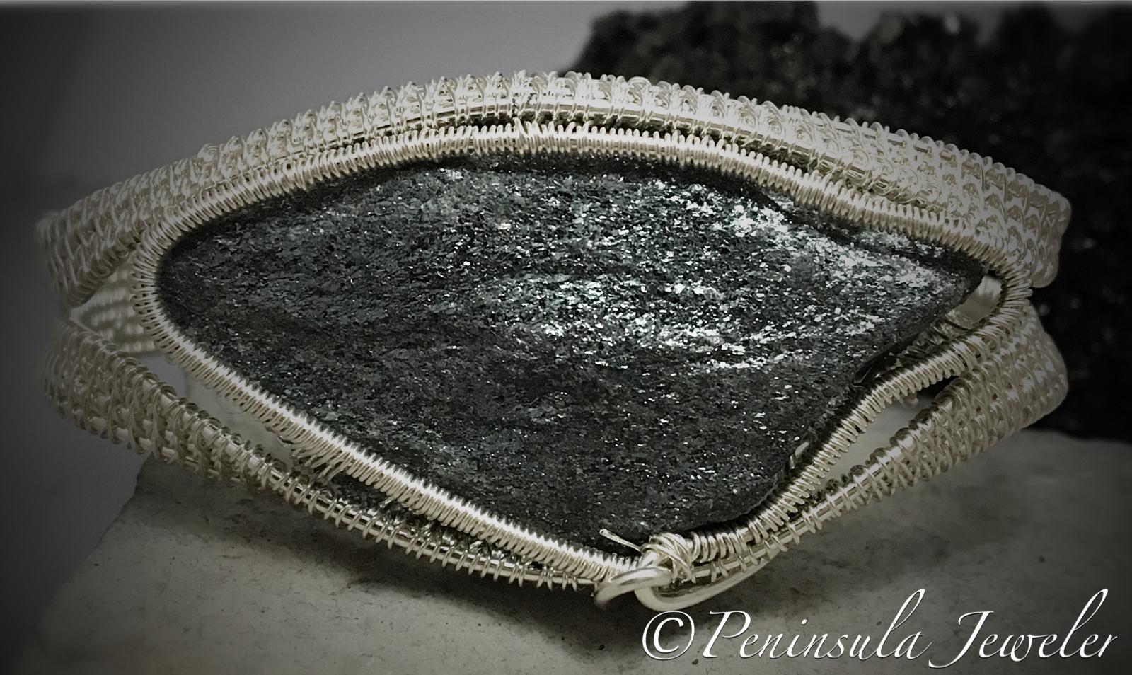 Hematite Wire Wrapped Bracelet