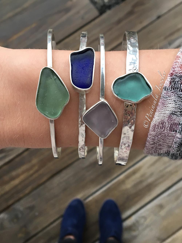 beach glass bangles