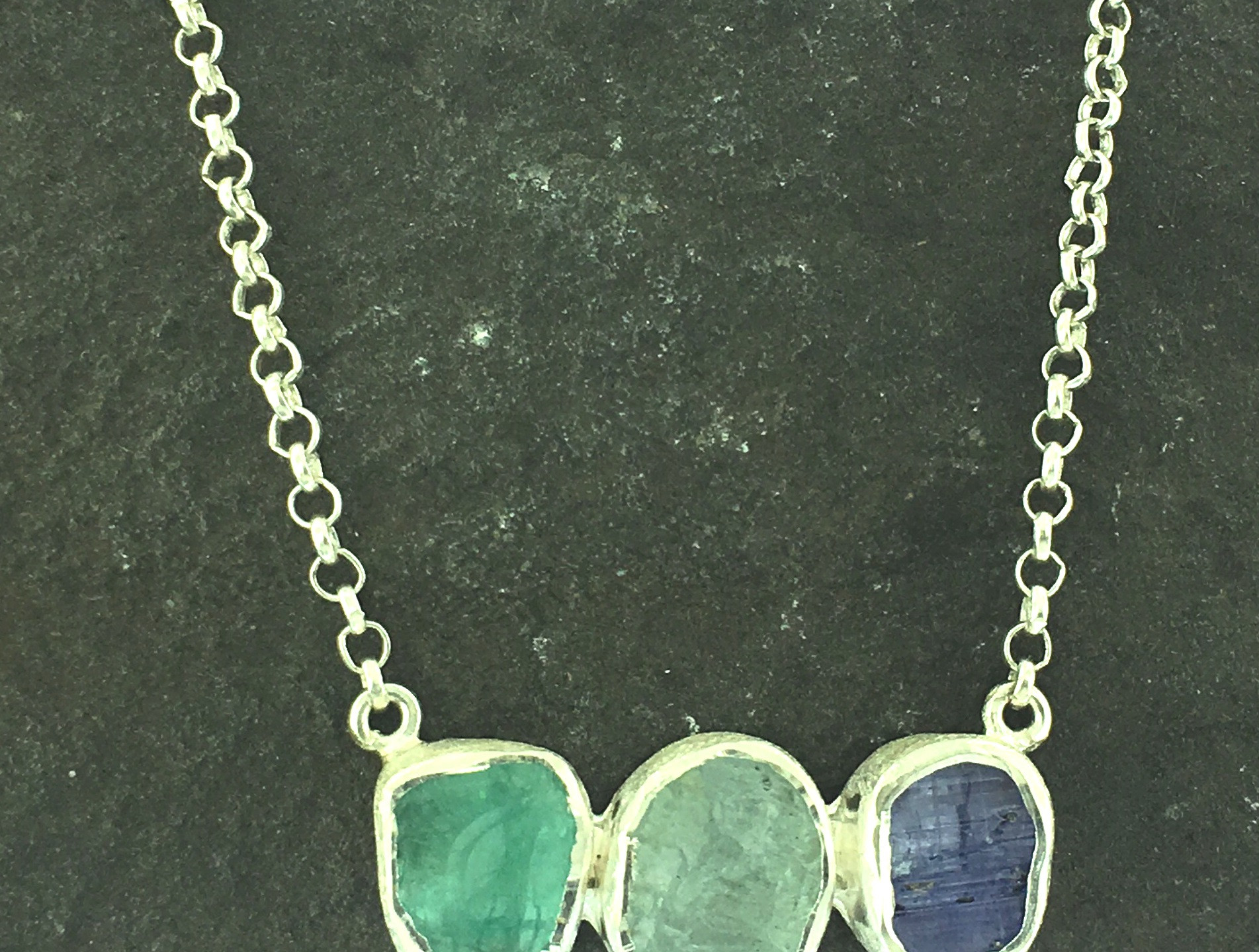 Rough gemstone necklace