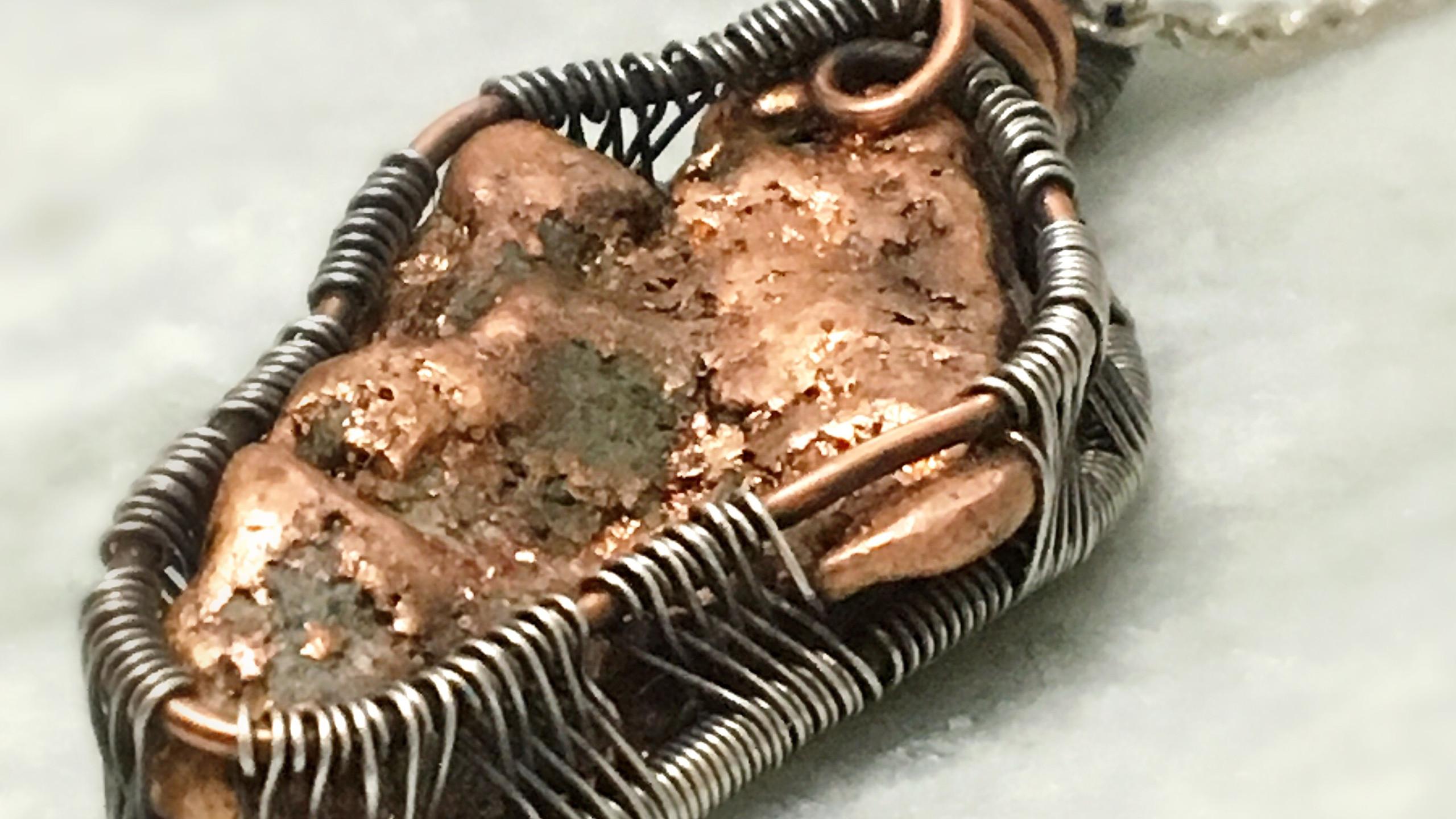 Rough Copper Pendant