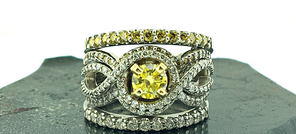 yellow diamond wedding ring