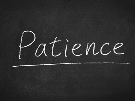 Entrepreneurial Tip: Patience Guides World Changers