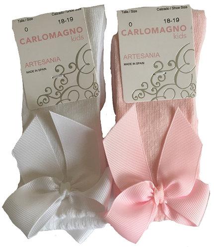 CARLOMAGNO Ribbon socks NAVY