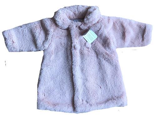 MEBI Nude fur coat