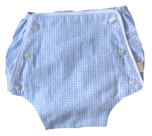 BABY GI blue gingham shorts