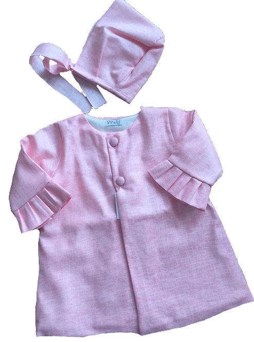 MEBI Rose coat and bonnet