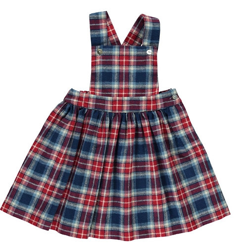 DOT Winter Salome navy red plaid