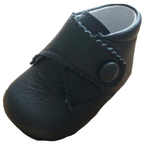 TNY Navy leather pram