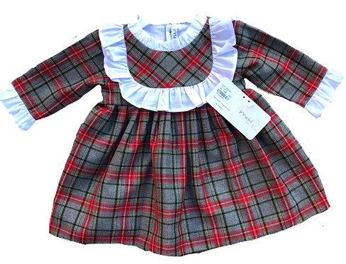 MEBI Ayda tartan dress