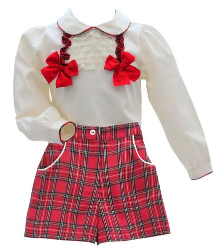 PO Holly shirt and shorts set