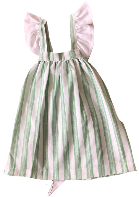 CUA CUAK Tabitha dress white and green