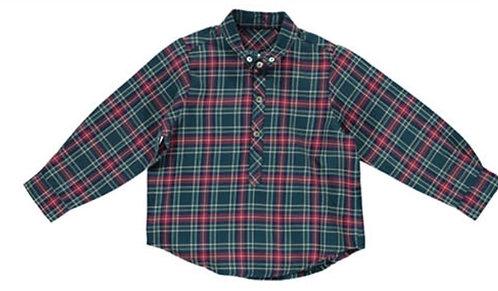 DOT Roger green red plaid shirt