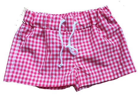 DOT Father Pedro swimshorts red gingham