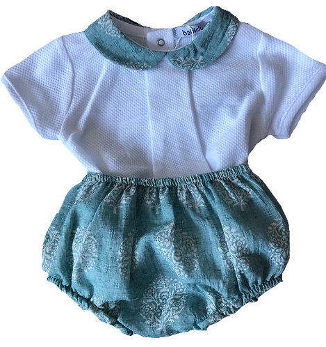 BABIDU Oscar green 2 piece set