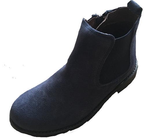TNY Navy suede Chelsea boots