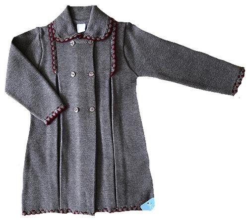 GRANLEI Cecelia grey and wine coat