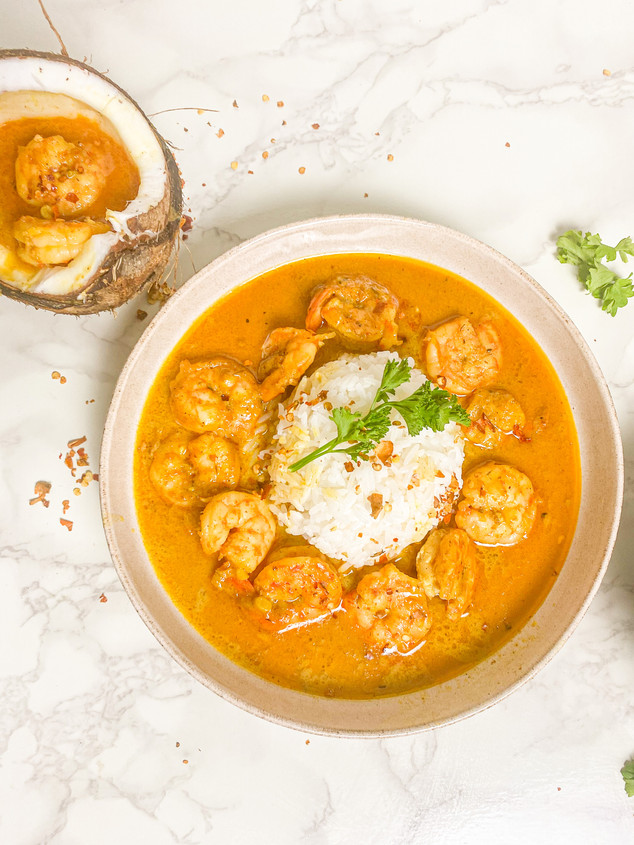 Coconut Curry Prawns