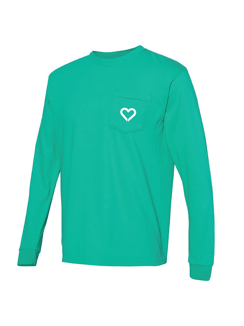Island Green Comfort Colors long sleeve pocket tee