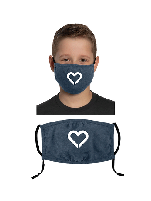 Youth Cotton Mask with Adjustable Ear Loops