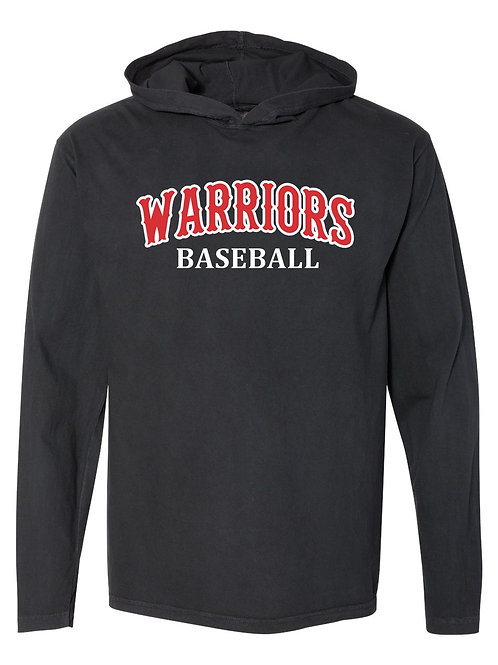 Warriors - Comfort Colors - Garment-Dyed Heavyweight Hooded Hornet L/S Tee