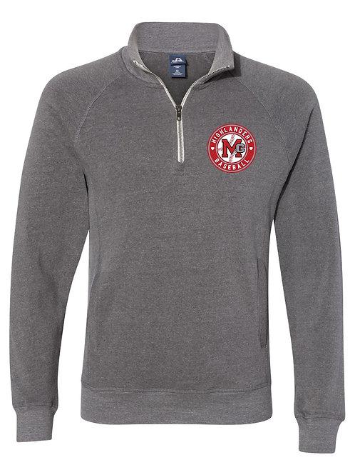 J. America - Triblend Quarter-Zip Sweatshirt