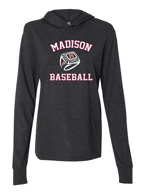 SC - Unisex Jersey Hooded Long Sleeve Tee (Front Only)