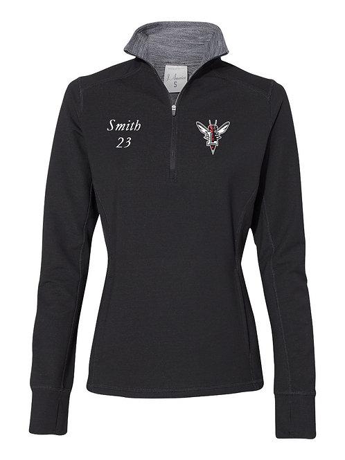 J. America - Women's Omega Stretch Quarter-Zip Pullover