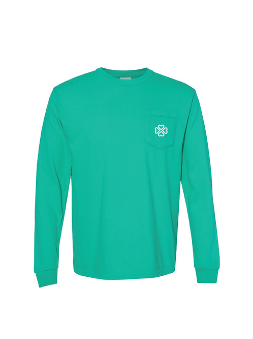 St. Patrick's Day Comfort Colors Long Sleeve Pocket Tee