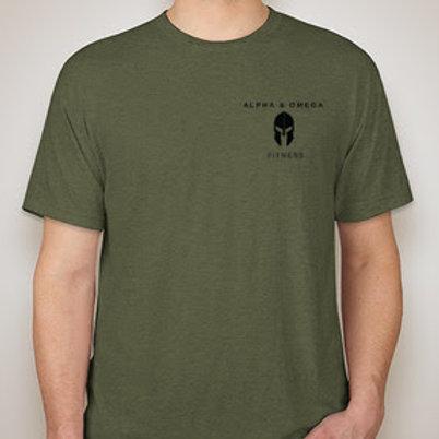 Alpha & Omega Tri-Blend Shirt (Left Chest Logo)