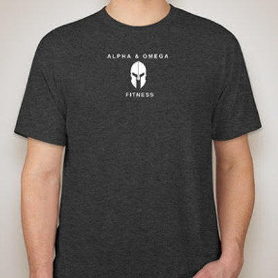 Alpha & Omega Tri-Blend Shirt (Center Logo)