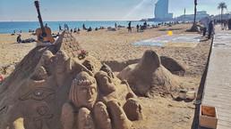 A Praia de Barceloneta