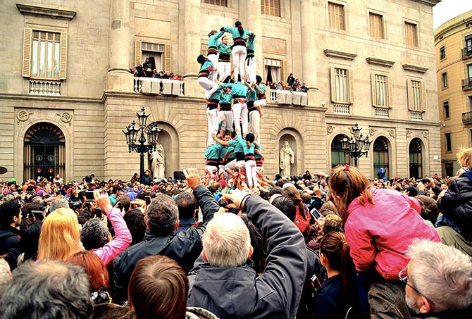 As torres humanas de Barcelona