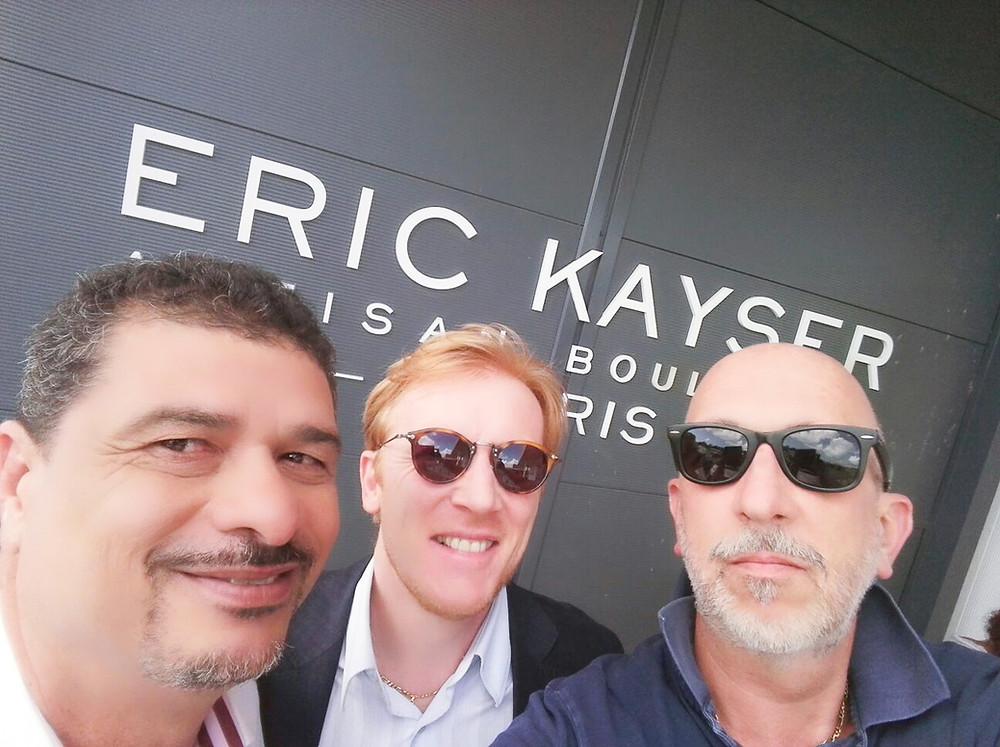 Eric Kayser et Paolo Pellegrinetti de visite au nouveau magasin Maison Kayser à Guadeloupe
