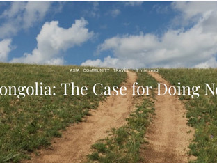 In Mongolia: The Case for Doing Nothing | The Culture-ist