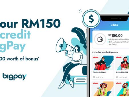 Claim eBelia with BigPay and get up to RM700 worth of bonus' and prizes!