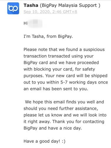 BigPay freezing account to prevent fraud
