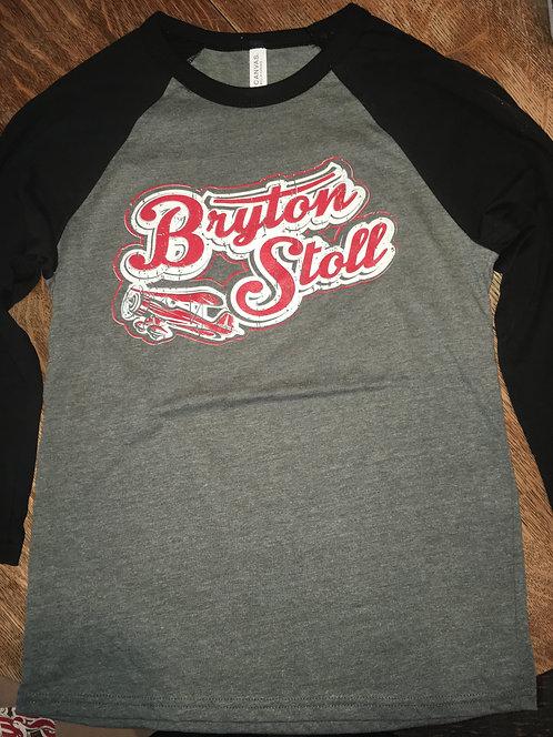 Bryton Stoll Logo Baseball Tee